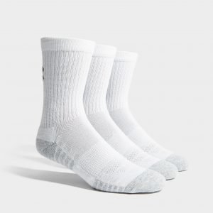Under Armour 3 Pack Heatgear Tech Crew Socks Valkoinen