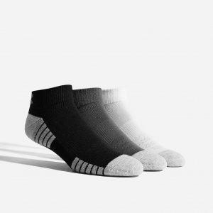 Under Armour 3 Pack Heatgear Tech Socks Harmaa