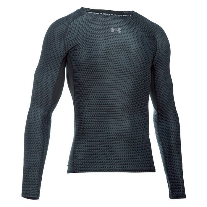 Under Armour Armour HG Longsleeve Compression Printed Black Medium