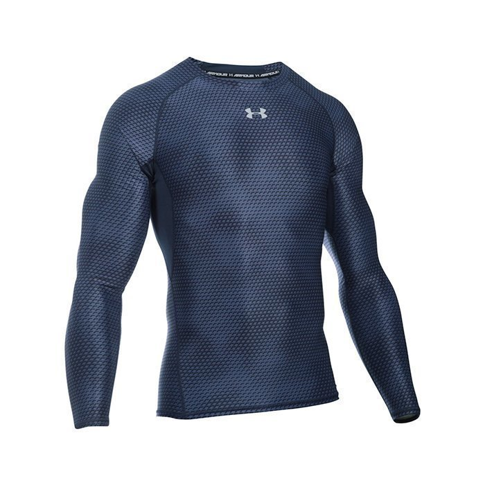 Under Armour Armour HG Longsleeve Compression Printed Midnight Navy Large