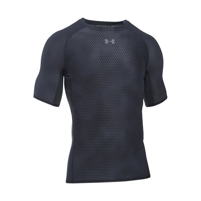 Under Armour Armour HG Printed Shortsleeve Tee Black Large