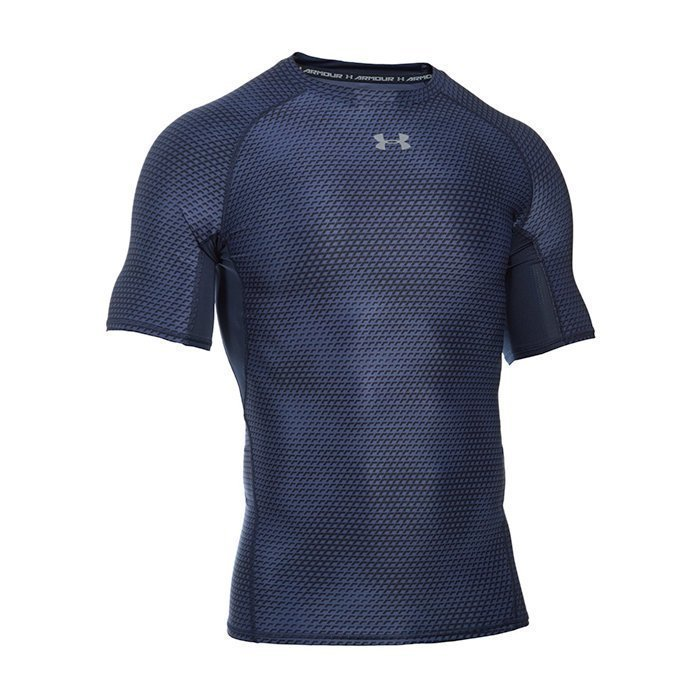 Under Armour Armour HG Printed Shortsleeve Tee Midnight Navy Medium