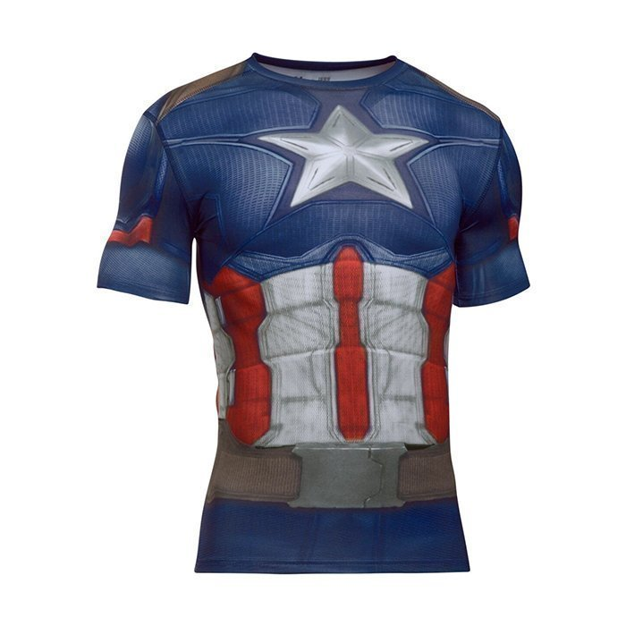 Under Armour Captain America Suit Shortsleeve Midnight Navy Small