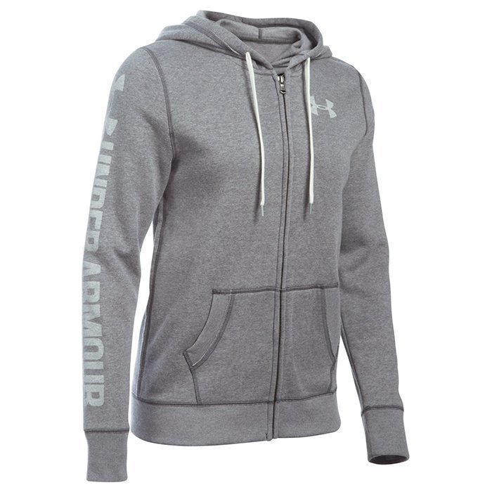Under Armour Favorite Fleece Full Zip Carbon Heather X-small