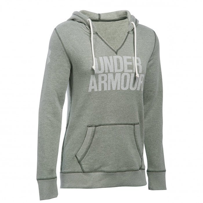Under Armour Favorite Fleece Popover downtown green Large