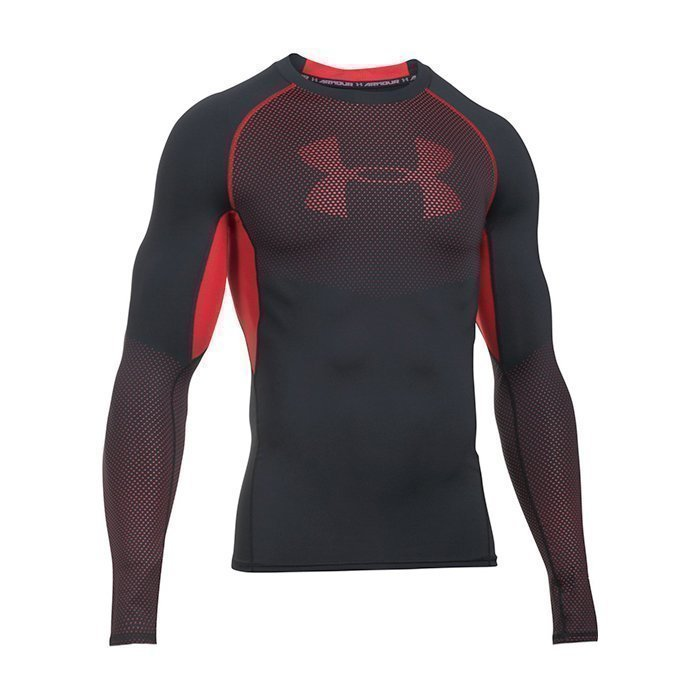 Under Armour HG Armour Graphic Longsleeve Black Medium