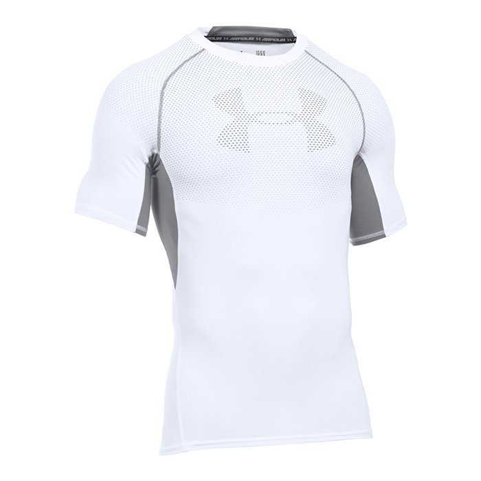 Under Armour HG Armour Graphic Shortsleeve Tee White Small