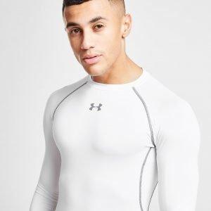 Under Armour Heatgear Long Sleeve Compression T-Shirt Valkoinen