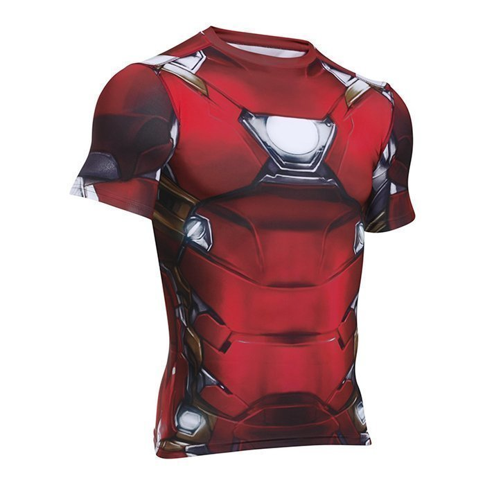 Under Armour Iron Man Suit Shortsleeve Cardinal Medium