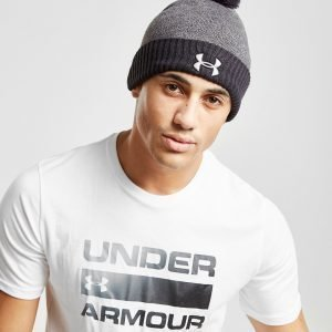 Under Armour Logo Pom Beanie Hat Harmaa