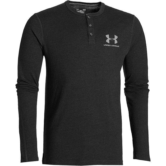 Under Armour Sportswear LS Henley Black S