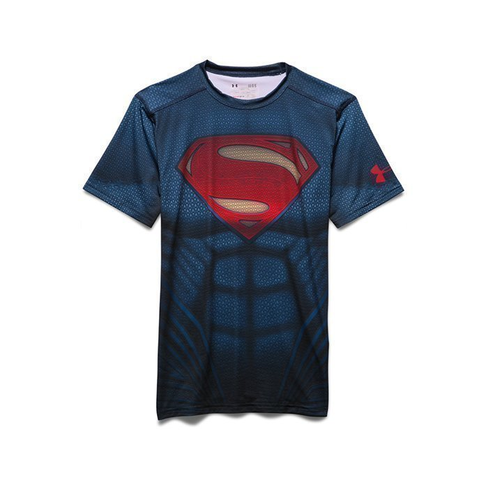 Under Armour Superman Suit Shortsleeve Midnight Navy Small