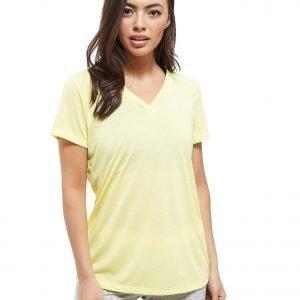 Under Armour Threadborne V-Neck Short Sleeve T-Shirt Lemon