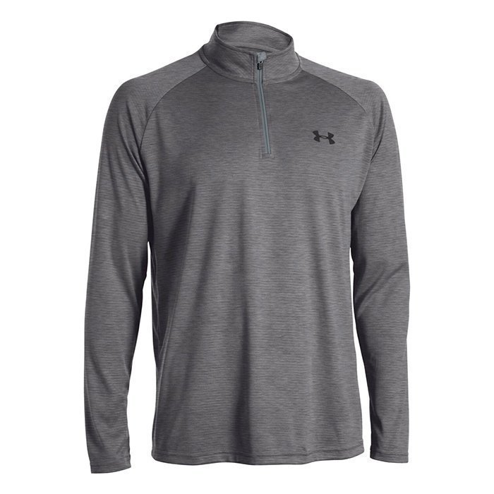 Under Armour UA Tech 1/4 Zip Carbon Heather Large