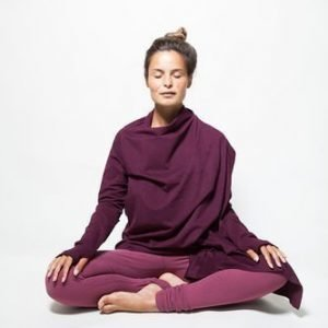 Urban Goddess Yoga Top Cardigan Wrap Me Up Deep Cherry