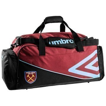 West Ham United Urheilulaukku Holdall Viininpunainen/Musta