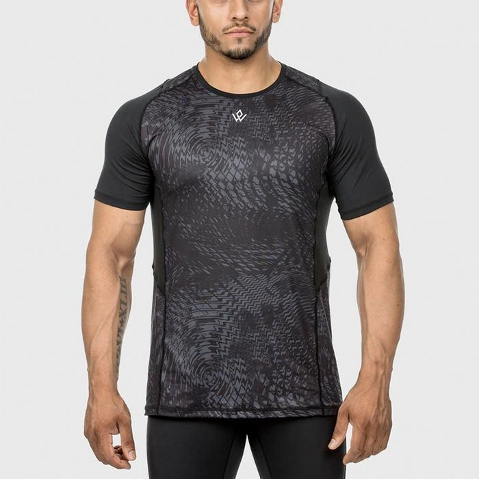 Workout Empire High Performance Gym Tee Raven XL
