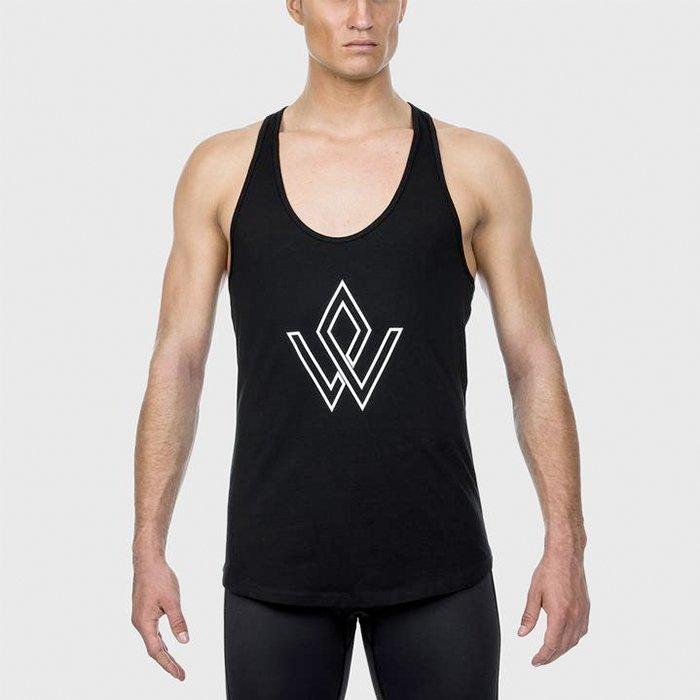 Workout Empire Imperial Logo Stringer Obsidian L