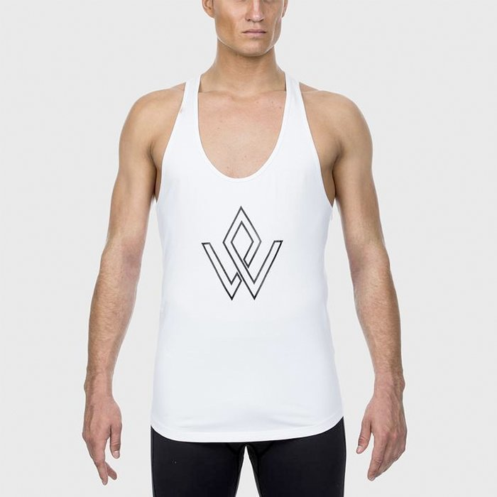Workout Empire Imperial Logo Stringer Pearl XL