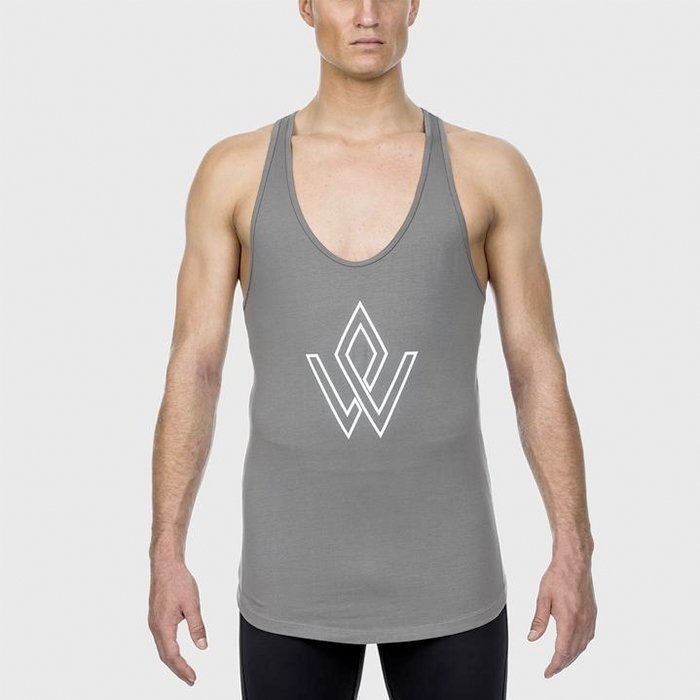 Workout Empire Imperial Logo Stringer Platinum XL