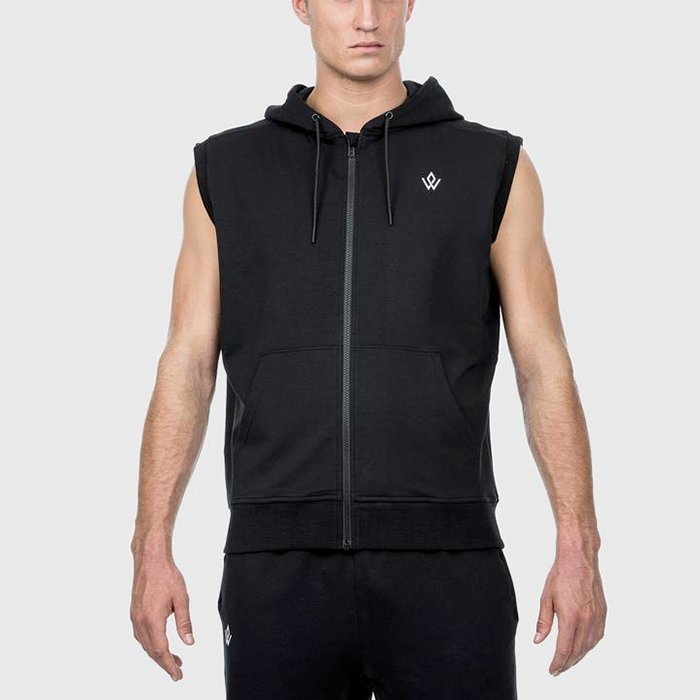 Workout Empire Imperial Sleeveless Hoodie Obsidian S