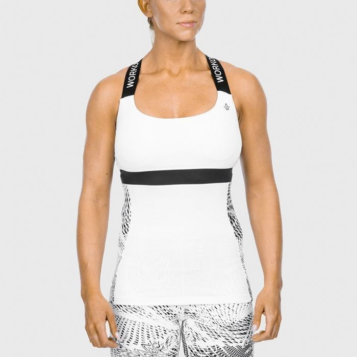 Workout Empire Womens High Performance Tank Top Snow